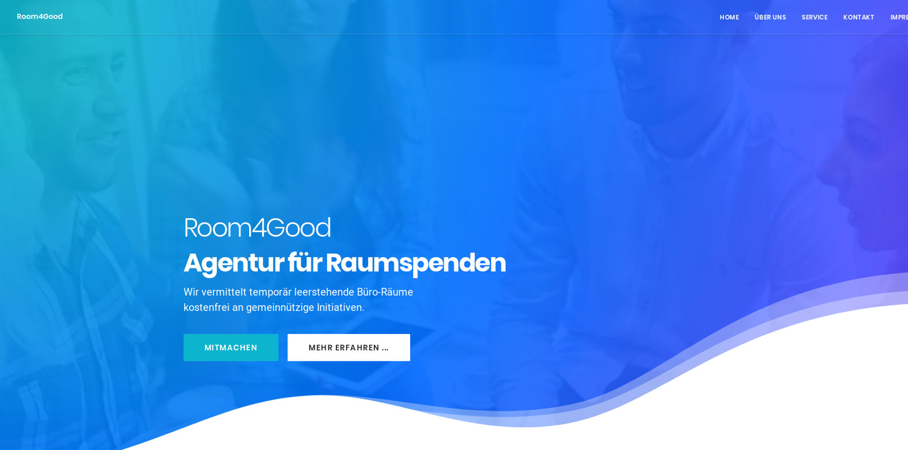 Picture of the Website www.room4good.org